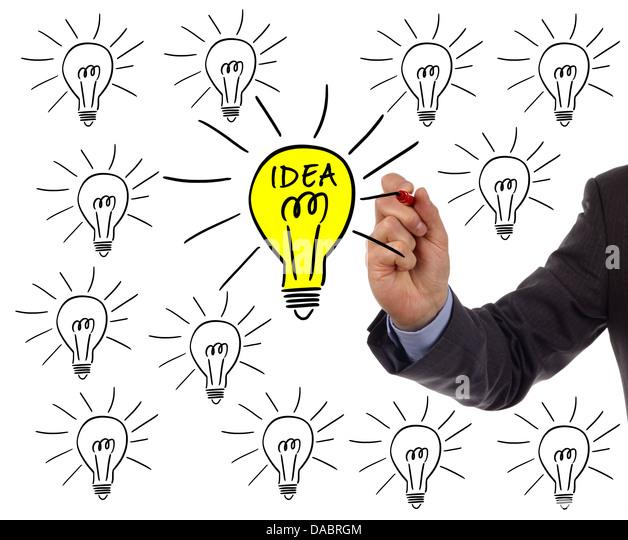 Bright idea - Stock Image