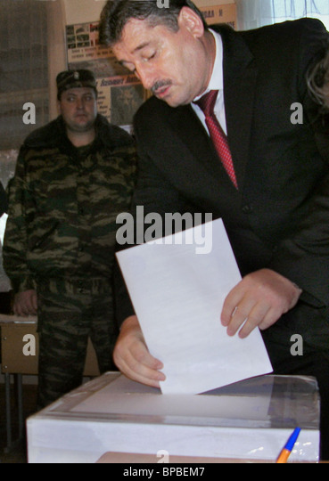 Chechnya chooses local parliament - Stock Image