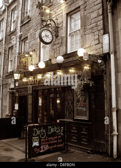 Dirty Dicks pub, Rose St Edinburgh City Scotland UK - Stock Image