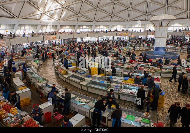 Uzbekistan, Tashkent, Chorsu bazar, food market - Stock Image