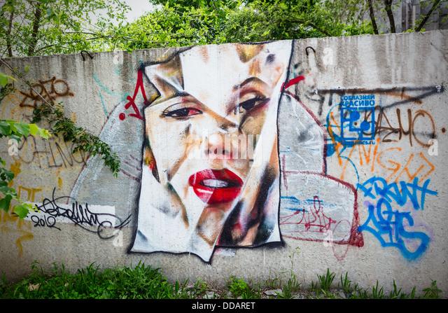 graffiti Marilyn Monroe - Stock Image