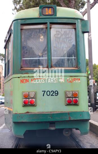 Tram 14 trolley car - Stock Image