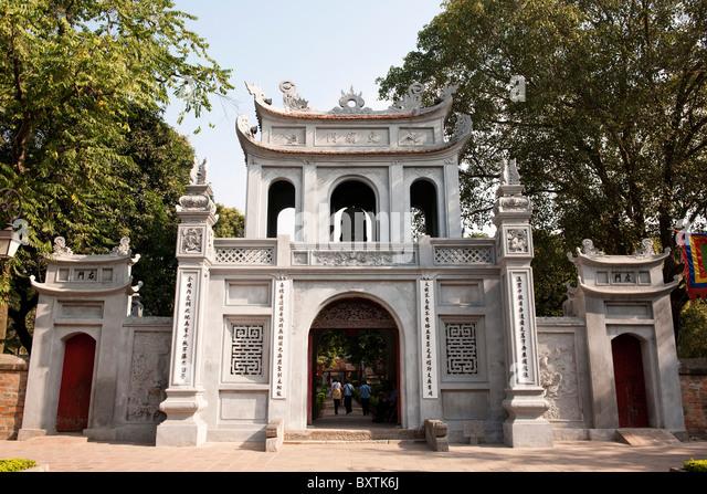 Van Mieu Gate, Temple of Literature, Hanoi, Vietnam - Stock Image