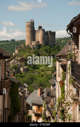 Najac, Aveyron, France - Stock Image