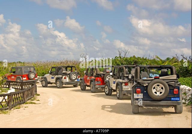 Mexico Cozumel Punta Sur parque ecological park jeep safari - Stock Image
