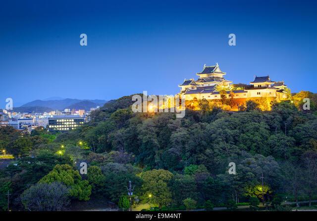Wakayama City, Japan at Wakayama Castle. - Stock-Bilder