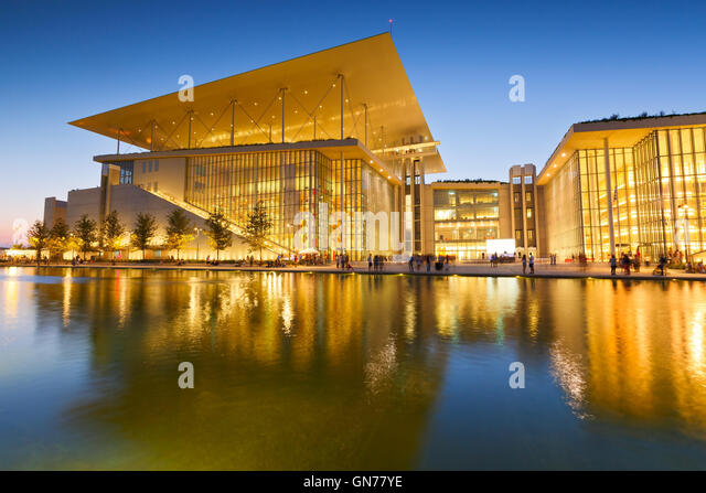 View of Stavros Niarchos Foundation Cultural Center in city of Athens. - Stock Image