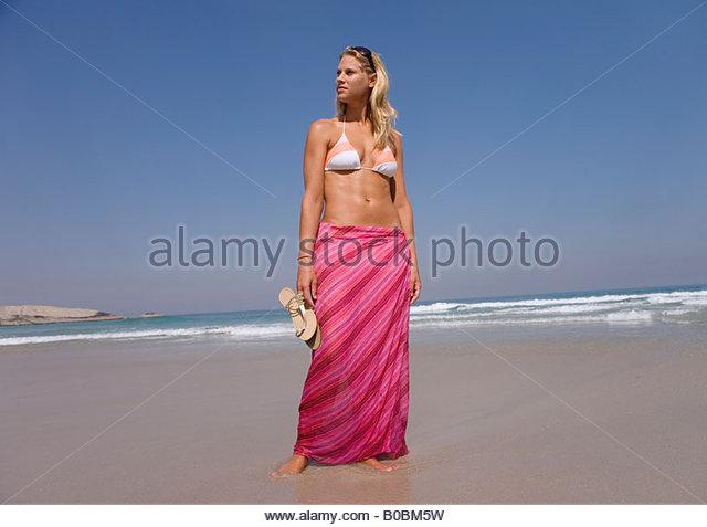 bikini top and sarong