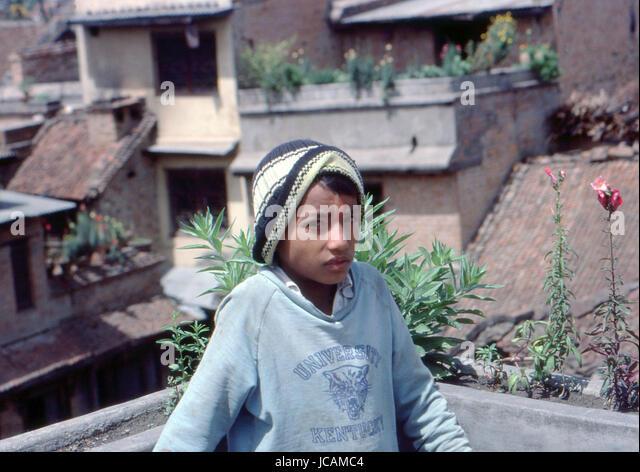Reportage Nepal 1980. Katmandu, - Stock Image