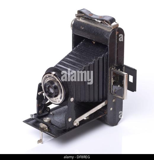 Old retro vintage Kodak Folding Brownie camera - Stock Image
