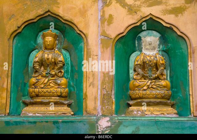 Buddha carvings stock photos