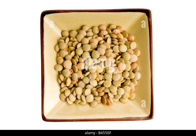 single plate of lentils - Stock Image