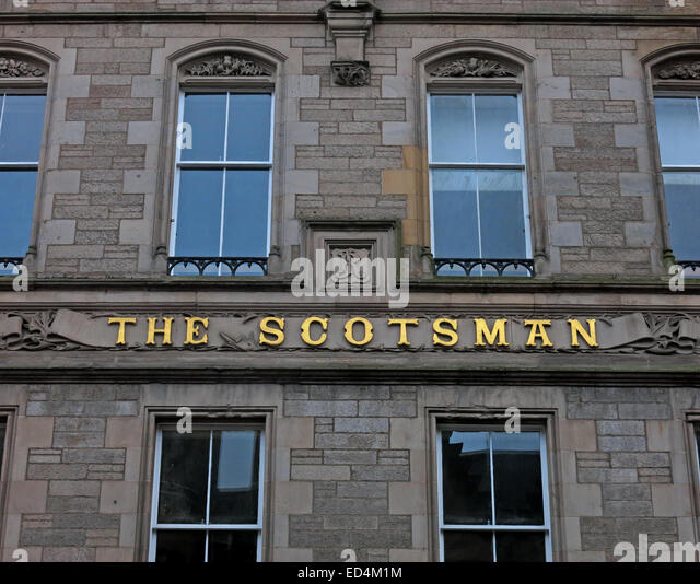 The Scotsman Daily Newspaper building, Cockburn Street, Edinburgh City, Scotland, UK - Stock Image