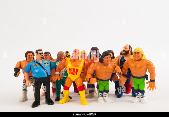 WWF Toy Wrestling Figures - Stock Image