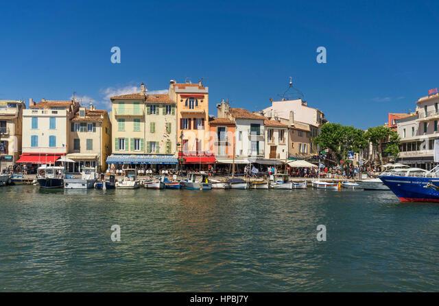 Cassis harbour Côte d Azur France, - Stock Image