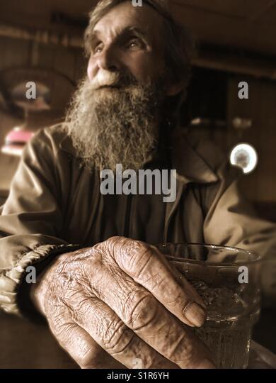 'Grandpas are just antique little boys'- Cordova, AK 2017 - Stock Image