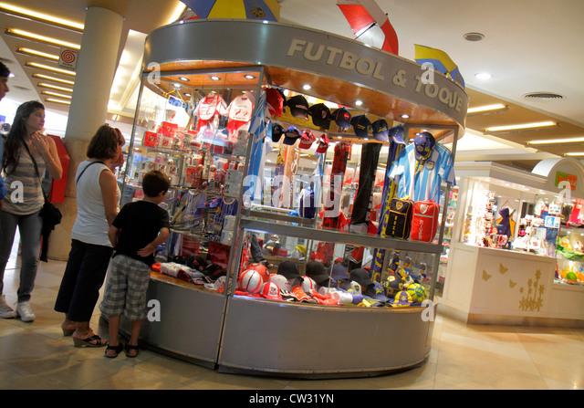 Mendoza Argentina Villa Nueva Mendoza Plaza Shopping mall shopping center centre business kiosk sportswear Hispanic - Stock Image