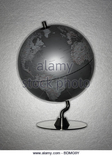 Retro globe - Stock Image