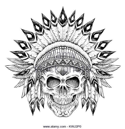 Tattoo Style Skull Illustration Stock Photos Amp Tattoo