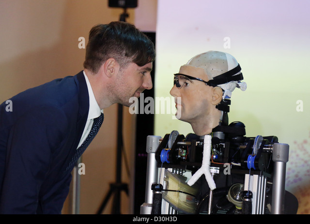 Rex Robot bionic man at Science Museum Bertolt Meyer - Stock Image