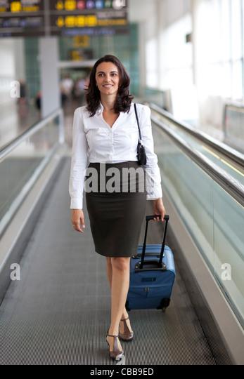 Latin businesswoman travelling - Stock-Bilder