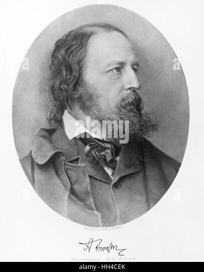 Lord Tennyson, Alfred Lord Tennyson, 1905 - Stock-Bilder