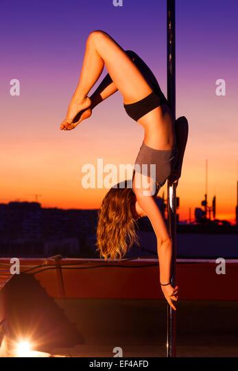 Pole Dance Woman Stock Photos & Pole Dance Woman Stock ...