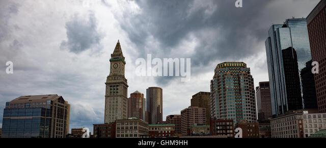 boston city buildings - Stock Image