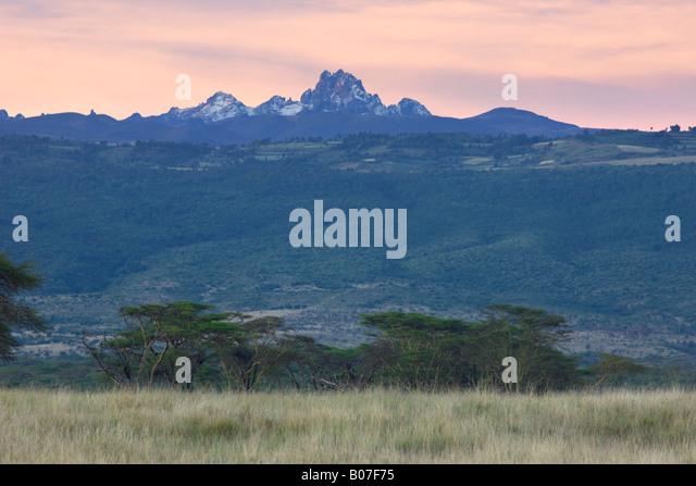 Mt. Kenya, Lewa Wildlife Conservancy, Kenya - Stock Image