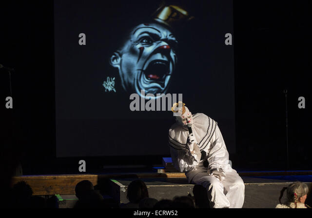 St. Petersburg, Florida, USA. 18th December, 2014. Puddles The Clown of Puddles Pity Party performs on December - Stock Image