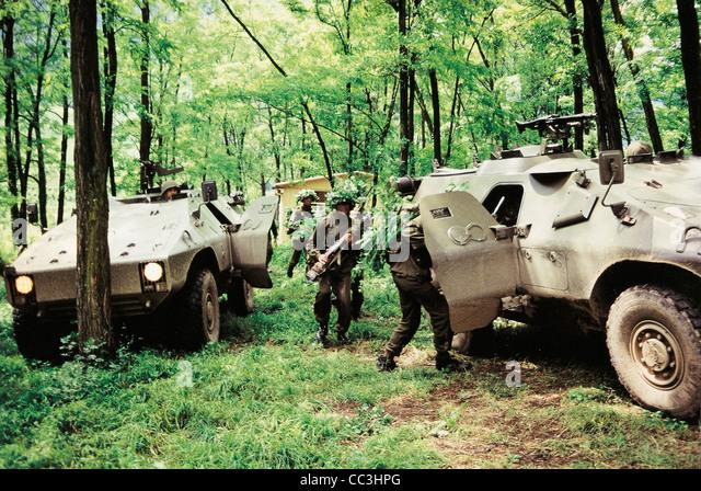 Military Vehicles 20th Century Italy Puma Armored Nineties - Stock Image
