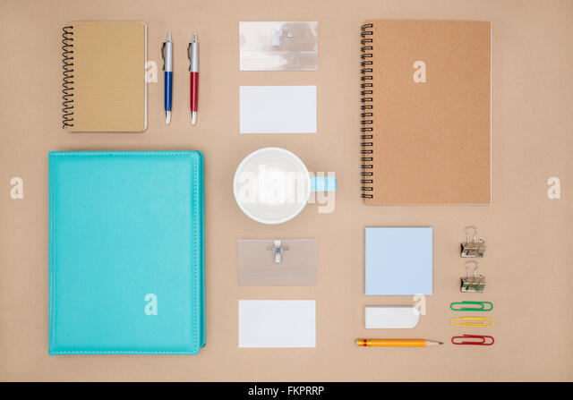 Mock up template of stationary in everyday life,  Office Supply - Stock-Bilder