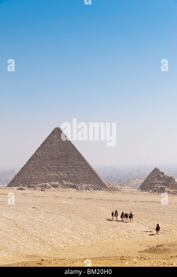 Pyramids, Giza, UNESCO World Heritage Site, near Cairo, Egypt, North Africa, Africa - Stock Image