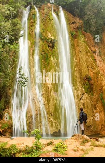 Salto del Limon in Samana, Dominican Republic. - Stock Image