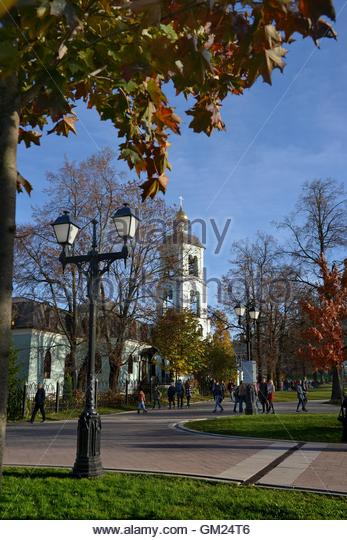Old church in the park 'Tsaritsyno'. Park Tsaritsyno - state historical-architectural art and landscape - Stock Image