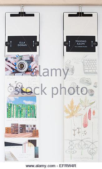 London Design Festival 2013, London, United Kingdom. Architect: Various Architects, 2013. Moleskine exhibition space - Stock Image