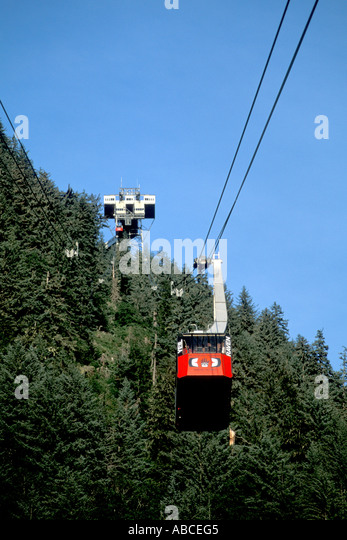 Alaska Fairbanks Mt mount Roberts Tram - Stock Image