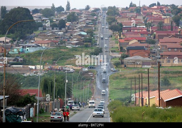 Street in Township Diepkloof, Johannesburg, South Africa - Stock-Bilder