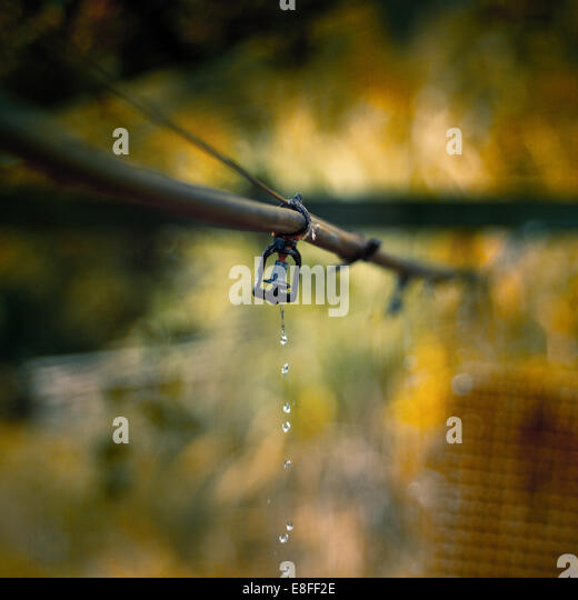 Close up of outdoor sprinkler - Stock Image
