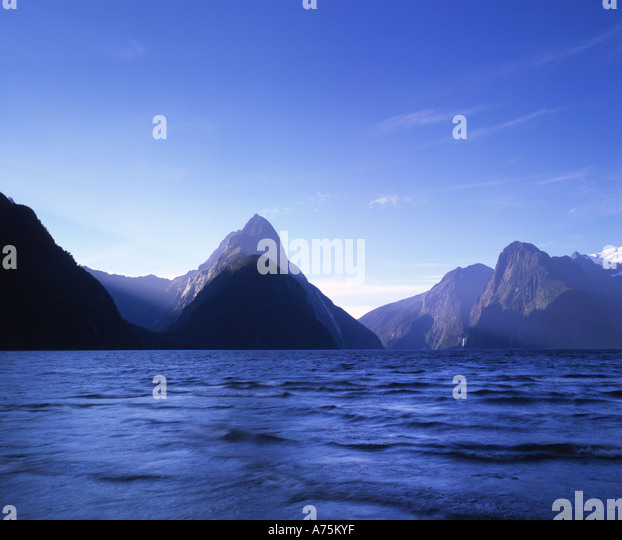 Milford Sound Fiordland National Park South Island New Zealand - Stock-Bilder