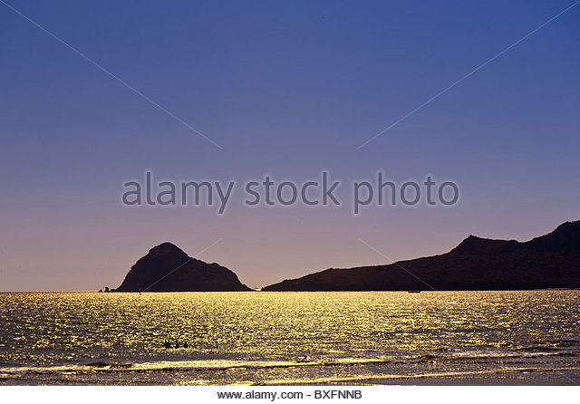 Beach at the Playa Mazatlan Hotel, Mazatlan, Sinaloa, Mexico - Stock Image