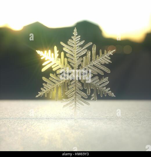 Snowflake, illustration. - Stock-Bilder