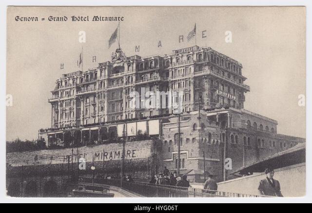 Grand Hotel Miramare, Genoa, Italy - Stock Image