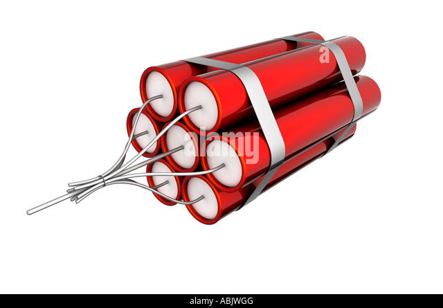 Red dynamite - Stock Image