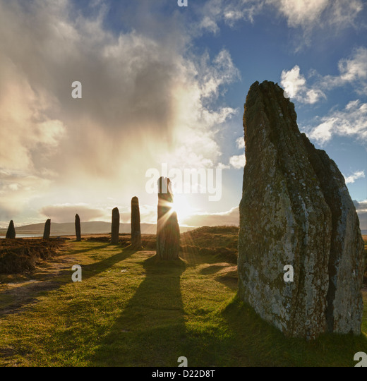 Ring of Brodgar sunrise, Orkney isles - Stock Image