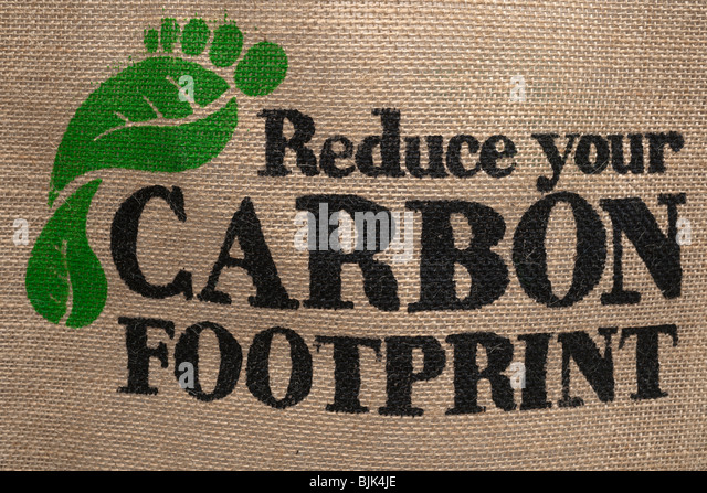 Reduce your carbon footprint - Stock Image