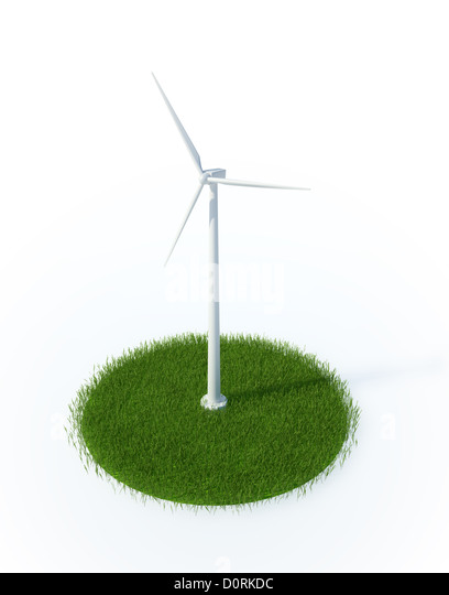 Wind energy concept - Stock Image