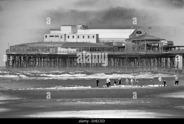 The Pier, Blackpool. Abstract Art. - Stock Image