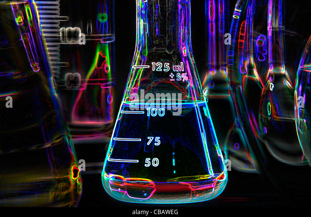 Chemical Glassware - Stock Image