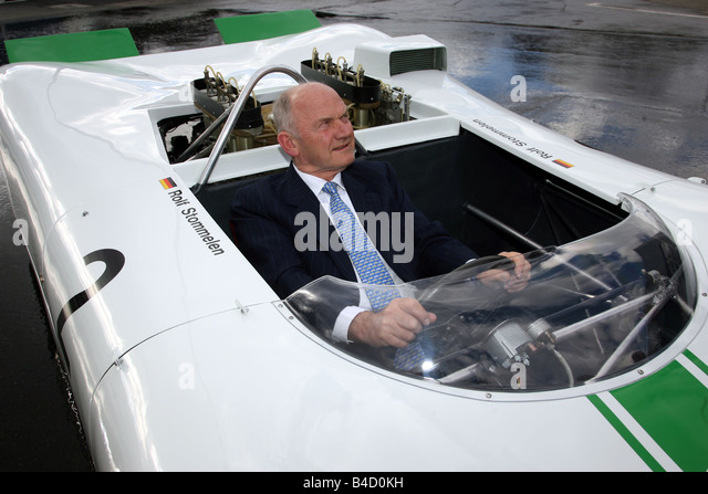 Ferdinand Piech with Porsche Bergspyder 909 from the year 1968 - Stock Image